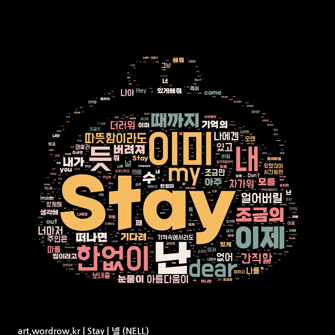 워드 아트: Stay [넬 (NELL)]-58